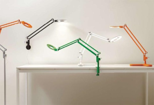 The Link from Pablo is an LED lamp that comes in different sizes, colors and wall, clamp-on and desk versions