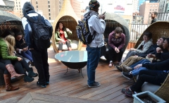 Global Classrooms Students Enjoying Lightology's Rooftop Lounge