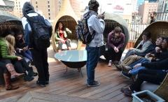 Global Classrooms Students Enjoying Lightology's Rooftop Lounge
