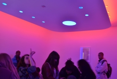 Global Classrooms Students Absorbed in the Morpheus Room Lighting Demonstration