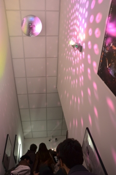 Global Classrooms Students Climb the 'Evolution of Light' Stairwell - Reach the Disco Era