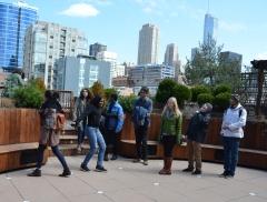 Global Classrooms Students Enjoying Lightology's Roofdeck