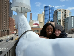 Global Classrooms Students Dig Our Giant Rooftop Horse Lamp
